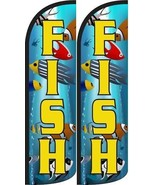 Fish King size Windless Flag - Pack of 2 - $31.99