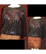 JUDITH ANN CREATIONS INC Sequin blouse S (TC1-02I8G) - $84.13
