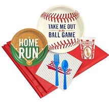 Baseball Time Childrens Birthday Party Supplies - Tableware Party Pack (24) - $31.32