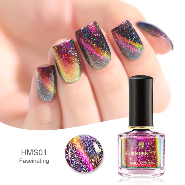HOLOGRAPHIC 3D MAGNETIC SERIES Glitter Varnish Magnet Nail Art Lacquer image 3
