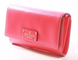 Kate Spade Natalie Wellesley Hot Rose Pink Clutch Cross Body Bag Small Handbag - $184.24