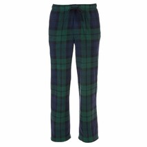 Croft & Barrow Flannel Pajama Pants Mens Size 4XB Lounge Blue Green Plaid - $9.89