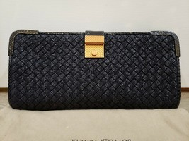 100% Authentic Bottega Veneta Rafialana Snake-Trimmed Clutch Bag.  Excel... - $1,244.96
