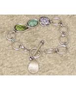 Costume Jewelry Silvertone Lia Sofia Bracelet - $7.95