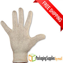96 Pairs Cotton Polyester String Knit Gloves Industrial Grade for Men's - $56.97