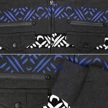 EKZ Men's Graphic Geo Tribal Fleece Lined Zip Up Sherpa Hoodie Jacket image 6