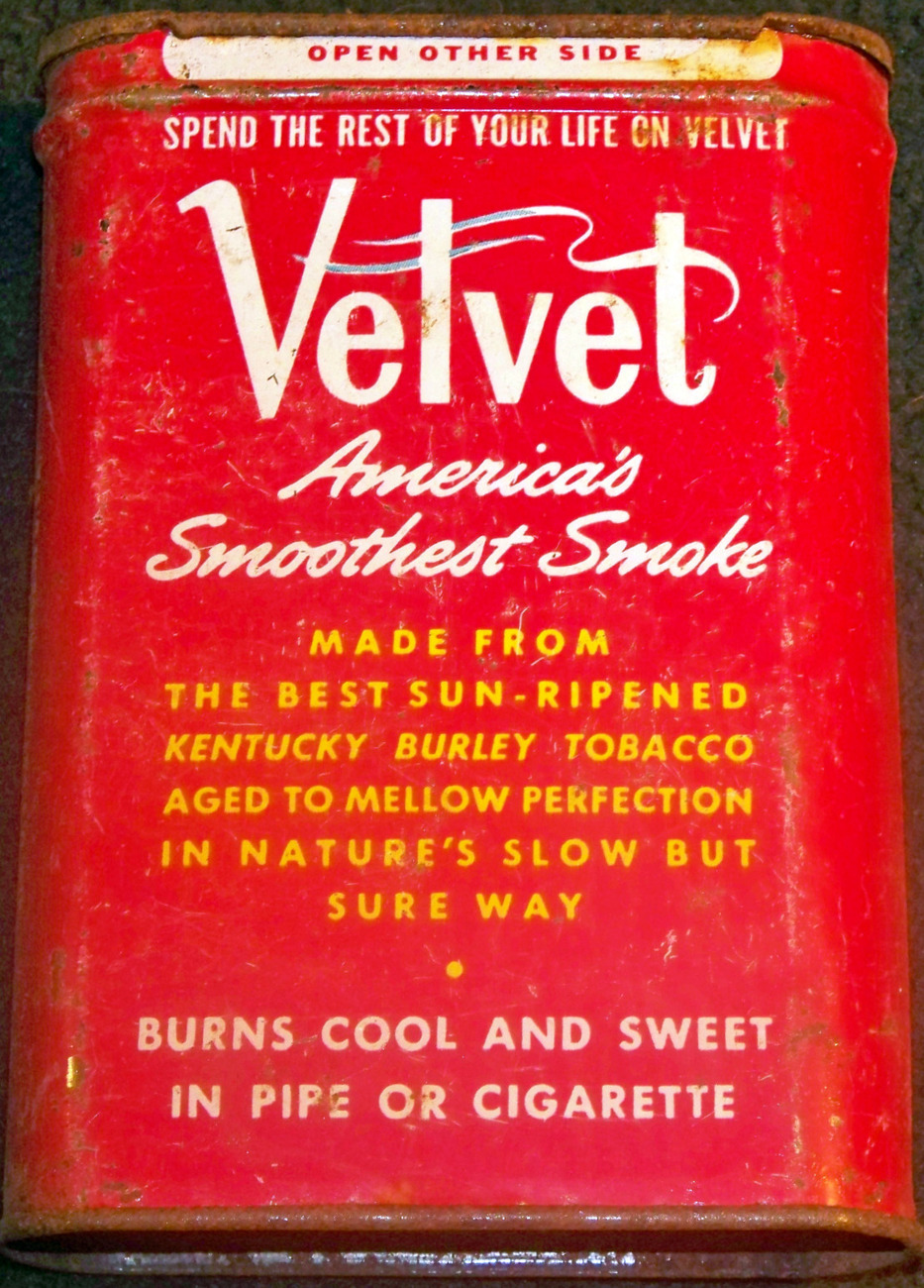 Spend The Rest of Your Life On Velvet! Tobacco Tin