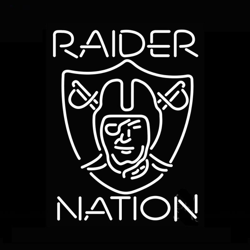 "New Oakland Raiders Nation Neon Light Sign 24""x20"""