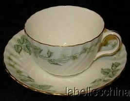 Greenwich Tea Cup and Saucer S-705 Gold Gilt Trim Made in England by Minton - $32.62