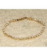 Vintage Costume Jewelry Goldtone/Rhinestone Bracelet - $7.95