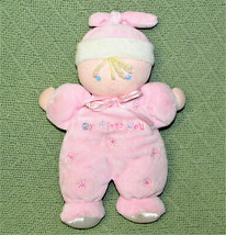 """Just One Year My First Doll Rattle Carter's Pink Blond Flower Plush Stuffed 9"""" - $18.70"""