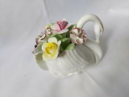 Royal Doulton Swan Flower Posy Bone China Signed MB - $6.84