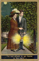 Not Afraid of The Dark Vintage Post Card - $5.00