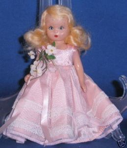 NANCY ANN DOLL PLASTIC TEEN PINK DRESS SLEEP EYES