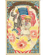 Hurrah a Glorious 4th of July Vintage 1913 Post Card - $8.00