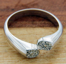Solid Sterling Silver Diamond Engagement Ring»R223 - $39.50