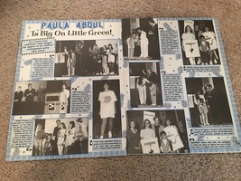 Paula Abdul teen magazine pinup clipping is big on little green Bop
