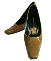 Sesto Meucci Morizca Womens Size 6.5 M Brown Amber Patent Leather Heels ... - $33.77