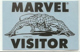 1982 Marvel Visitor Pass Official Reproduction Spiderman - $18.58