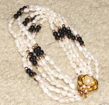 Vintage Seed Pearl Multi-Layer Bracelet with Gold Clasp Bonanza