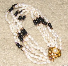 Vintage Seed Pearl Multi-Layer Bracelet with Gold Clasp - $6.95