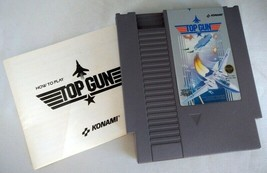 NES Nintendo TOP GUN Konami Video Game w/ Manual, Sleeve (1987) - Works - $10.68