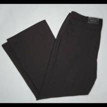 New Worthington Black Dress Pants Curvy Fit Trouser Leg Size 16S - $24.74