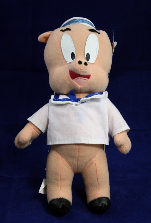 Porky Pig Doll 1998 Warner Brothers Looney Tunes