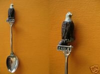TOFINO BC. BALD EAGLE Figural Collector Souvenir Spoon