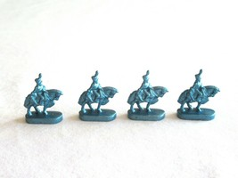 4x Risk 40th Anniversary Edition Board Game Metal Cavalry Soldier Blue Army Lot - $10.99