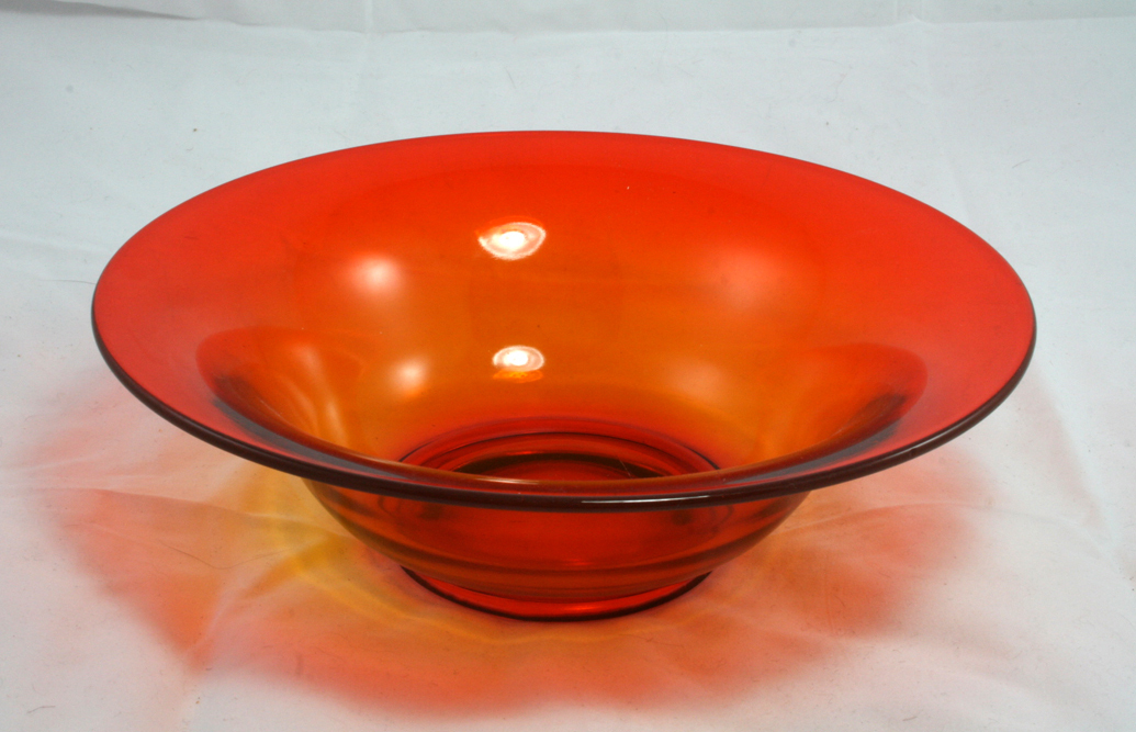 Beautiful Retro Orange Glass Bowl
