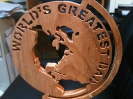 Wooden worlds greatest Dad sign display - $21.00