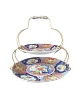 Vintage Japanese Japan Imari Ware Tidbit Serving Set Plates Porcelain RL... - $42.76