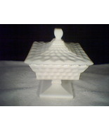 FOSTORIA AMERICAN MILK GLASS WEDDING BOWL WITH COVER - $19.95