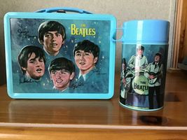 The Beatles Signatures Metal Lunch Box with Thermos New Lunchbox Limited Edition image 2