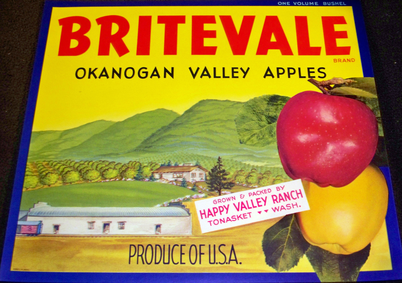 Happy Valley! Britevale Crate Label, 1940's