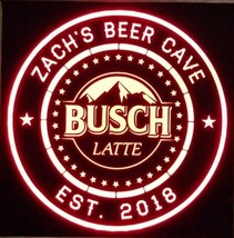 Busch latte LED Sign Personalized, Home bar pub Sign, Lighted Sign - $65.00