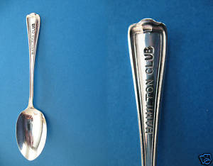 Vintage HAMILTON CLUB ONTARIO Collector Souvenir Spoon IS