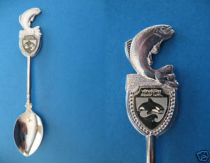 VANCOUVER BC. AQUARIUM WHALE Collector Souvenir Spoon