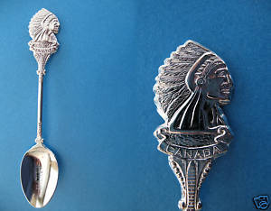 BANFF ALBERTA INDIAN CHIEF Collector Souvenir Spoon