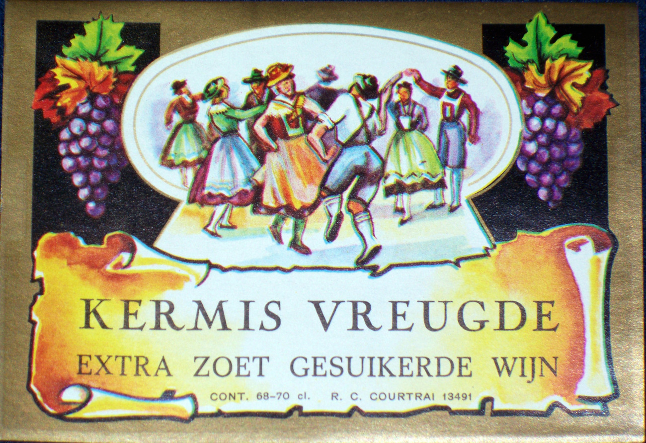Extra Sweet! Kermis Vreugde ( Wine ) Label, 1930's