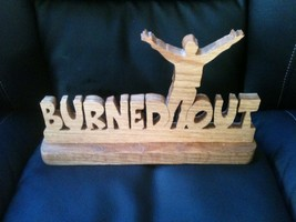 Wooden Burned out sign display - $18.50