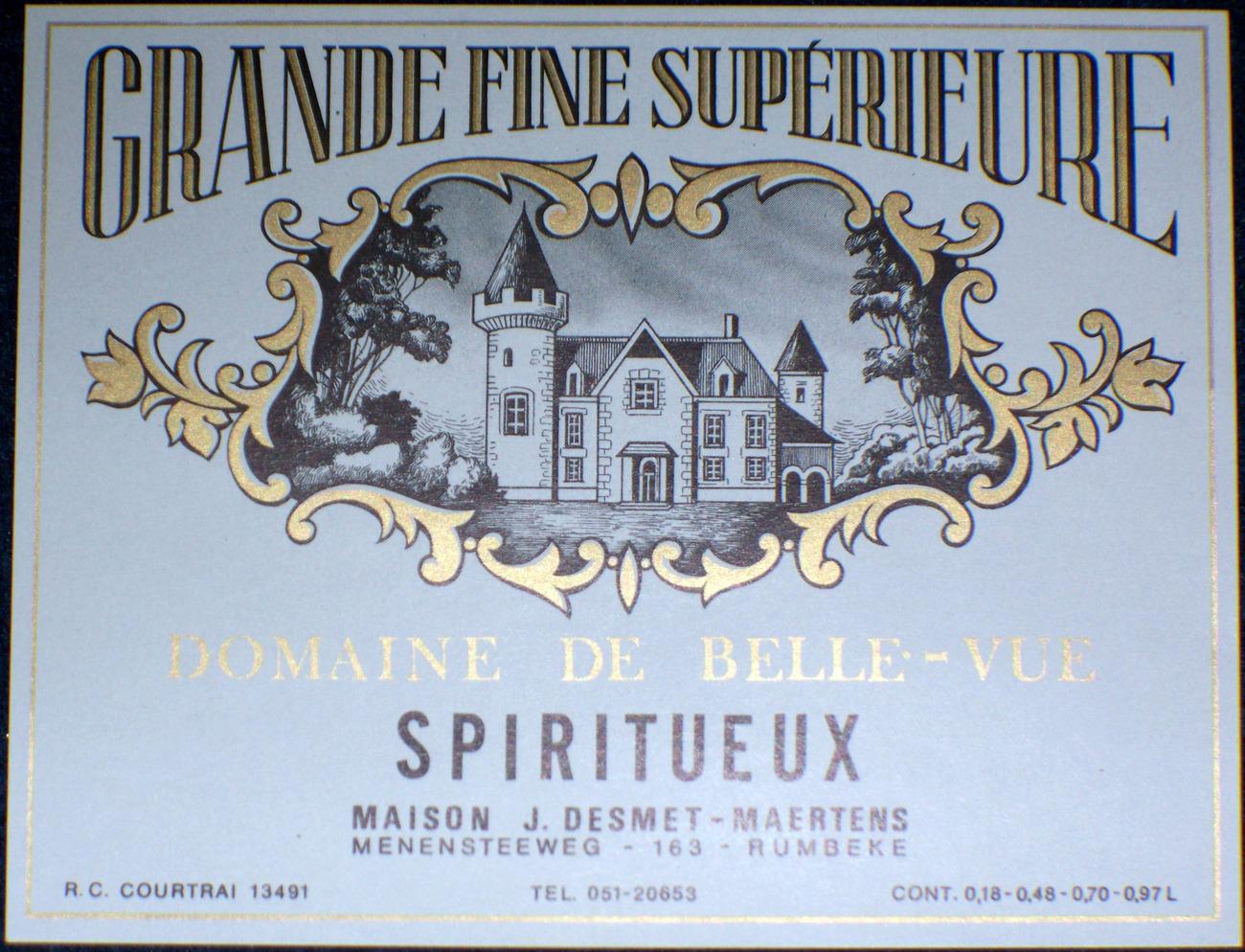 Nice!, Grande fine Superieure Spiritueux Label, 1930's