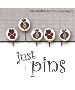 Pomegranate Stitches JP161 set 5 for pincushions JABC Just Another Butto... - $13.95