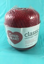 Red Heart Classic Crochet Thread Size 10, Victory Red 300 Yards New - $6.95