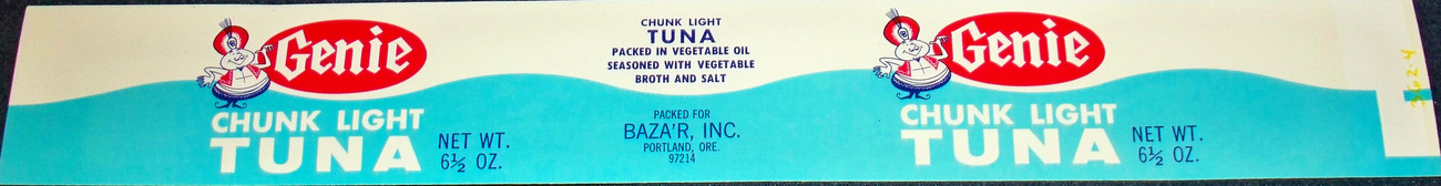 Magic! Vintage Genie Tuna Label