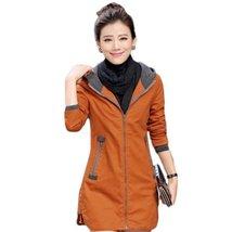 Slim Hooded Long Sleeve Windbreaker Women Jacket - $46.78
