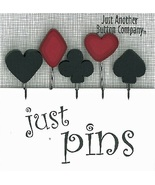 Royal Flush JP162 set 5 for pincushions JABC Just Another Button Co - $13.95