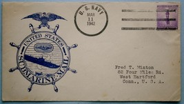 21. March 1942 Wartime Submarine Cachet Mail - $18.00