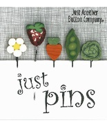 Fresh Vegetables JP163 set 5 for pincushions JABC Just Another Button Co - $13.95